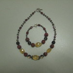 Carnelian and Citrine with Smoky Quartz Braclet & Necklace from Lis De La Valle Boutique, Opening Bid: $80